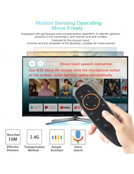 G10s Air Mouse Voice Control 2.4GHz Wireless With Gyro Sensing Game Voice control Smart Remote Control for Android TV BOX
