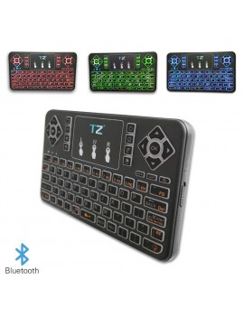 Q9s Bluetooth Wireless Mini Keyboard  Colorful Backlit with Touchpad Q9 Air Mouse Remote Control For Android TV Box Tablet