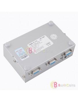1 PC to 2 Port VGA XGA Monitor Video HD Signal Amplifier Splitter Sharing Box