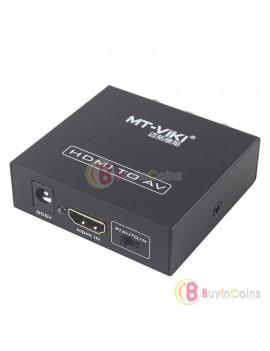 HDMI to CVBS AV HDTV Video Audio Converter Adapter Switch Box 1080P HDCP