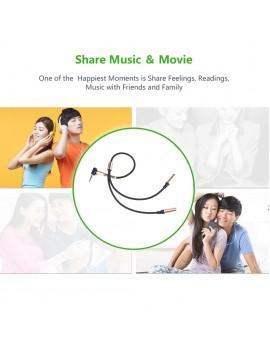 3.5MM Jack Plug Y Splitter Audio Stereo Extension Earphone Headphone Cable