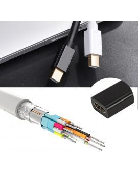 Mini DisplayPort Para HDMI Adaptador Mini Display Port DP Thunderbolt Conversor