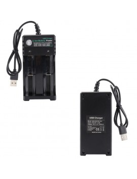 2Slot Li-ion Battery AC Charger Adapter For 18650 18500 16340 14500 26650