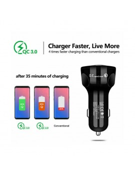 3A Quick Charge 3 USB Car Charger for iPhone Samsung Xiaomi Car Charger Fast QC 3.0 Mobile Phone Charger