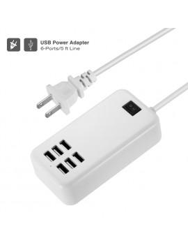 Multi Port USB Fast Charger 6-Port Adapter Travel Wall AC Power Supply US/EUPlug