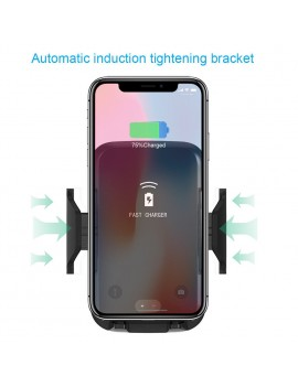10W Qi Wireless Car Charger Stand Automatic Infrared Induction Auto Mount Holder