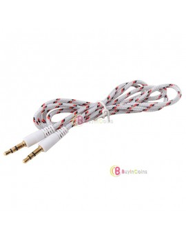 1M 3Ft 3.5mm Male to Male Plug Jack Stereo Audio AUX Cable for iPhone 5c 5s iPod