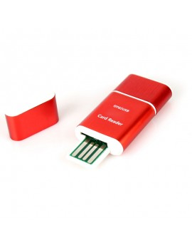 2GB 2 GB 2G Class4 TF Memory Card with SD Adapter + Aluminum OTG Card Reader