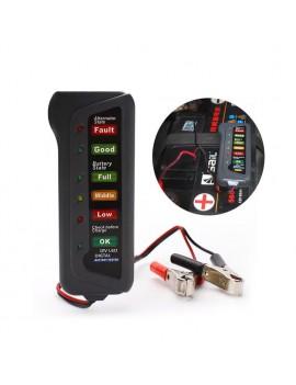 12V Car Digital Battery 6 LED Lights Display Alternator Tester Diagnostic Tool