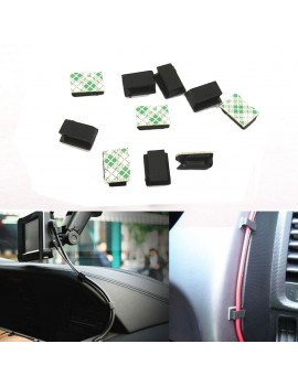 10Pcs Car Self-adhesive Wires Fixed Clips Data Cord Tie Cable Mount