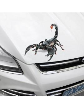 2017 3D Car Stickers Universal Spider Scorpion Lizard Shape Emblem Chrome 3D Car Truck Motor Decal