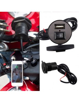 12V 1.5A Motorcycle Mobile Phone Power Supply Charger Port Socket USB Waterproof