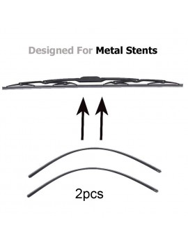 "1Pcs 6mm Car Auto Rubber Metal Wiper Blade Refill 14""/16""/22""/24""/26"""