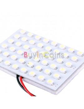 12V 48 SMD LED Panel Car Interior Light Bulb T10 Dome BA9S Adapter White
