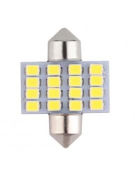 1Pcs 31mm 16SMD 1210 Car Auto Interior LED Bulb License Plate Dome Light