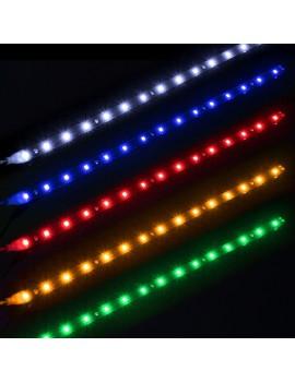 15 LED Waterproof Flexible Car Strip Light Motor Home DIY Lamps DC12V 30cm
