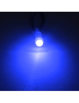 10 Pieces T5 Hat 5050 Tri-Cell LED 1 SMD Dashboard Gauge Instrument Panel White Light Bulb Lamp 37 58 70 73 74 Blue