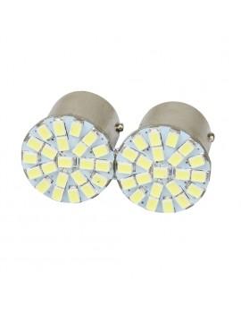 1Pcs 12V 1157 BAY15D White 22 SMD LED Car Auto Brake Light Bulb Lamp