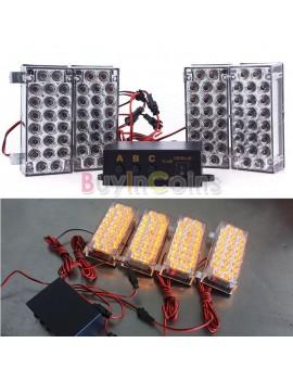 12V 2X22 4X22 LEDs Strobe Emergency Flashing Warning Grill Strobe Light Lamp New