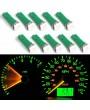 10pcs Optional Color T5 5050 1SMD Wedge Dashboard LED Light Bulbs 2721 74 73 70 17 18 37
