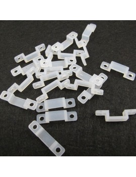 10 pcs 10mm 12mm 14mm 17mm Fixer Silicon Clip For Fix 5050 5630 RGB Single Color LED Strip Light Low Price Fashion