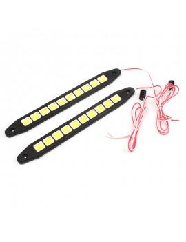 1Pc 10 LED COB Flexible Silicone Daytime Running Light Fog Bulbs Lamp White