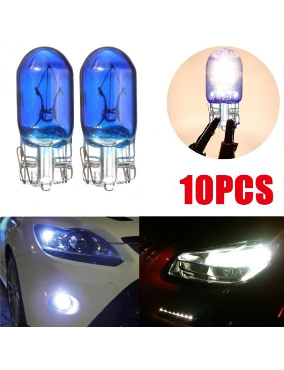 10Pcs Car T10 W5W 194 Cool White 5W 8000K XENON Halogen Bulb