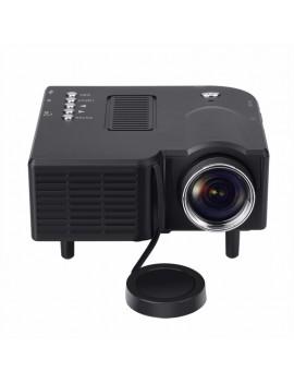 GM40 Mini Multimedia LED Projector Home Cinema - US Plug, Black