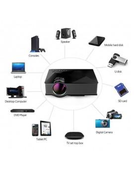 UNIC UC46+ HD Full WIFI LED Projector Multimedia Video Home Cinema Black