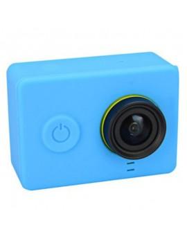 Housing Case Cover + Lens Cap Set for Xiao Yi Sport Camera Blue