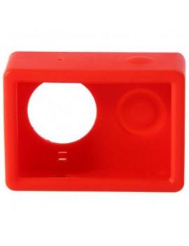 Housing Case Cover + Lens Cap Set for XiaoMi Yi Sports Camera Red