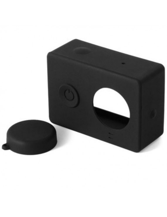 Housing Case Cover + Lens Cap Set for XiaoMi Yi Sports Camera Black