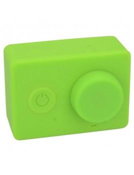 Housing Case Cover + Lens Cap Set for XiaoMi Yi Sports Camera Green