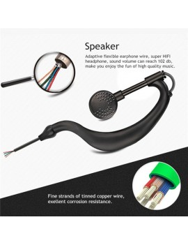 2 Pin Security Headset Earpiece Mic for baofeng bf-888s Walkie Talkie