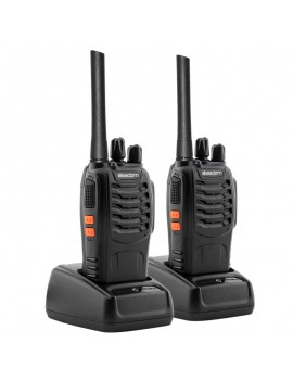 2 Leadzm LE-88A FRS 462-467MHz 16CH Two way Radio Walkie Talkie US Plug