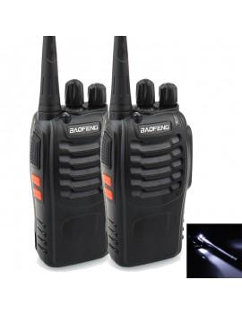 2pcs BaoFeng BF-888S Walkie Talkie 5W 400-470MHz Handheld Interphone - 1500mAh Batteries