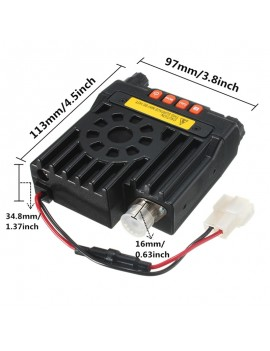 QYT UV VHF136-174/UHF400-480MHz Mobile Transceiver Vehicle Two Way Radio