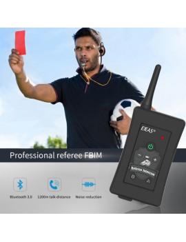 FBIM Four-Way Bluetooth Referee Headset with Armband Case 1.2Km Waterproof Walkie Talkie for Soccer Football Coaches