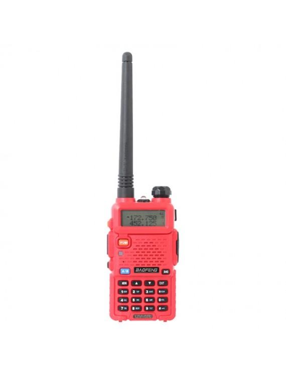 Baofeng BF-UV5R Dual-Band FM Transceiver Walkie Talkie US Plug Red