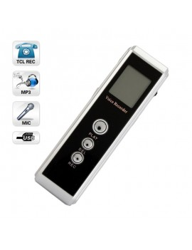 2GB DVR-956A USB Flash Digital Voice Recorder with MP3 Function Black