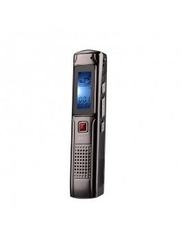 HD 8GB Digital Voice Recorder - Black