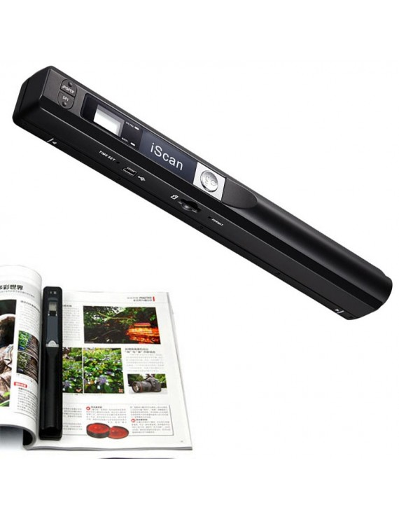 900DPI iScan Mini Portable Scanner Wireless HD Hand Held Scanner Black