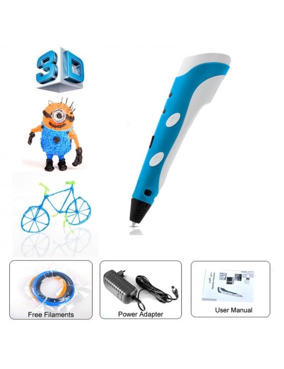 1.75mm 3D Arts Stereoscopic Drawing Printing Pen Blue (EU Standard)